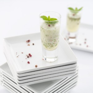 Champagne Sorbet with Lemon, Mint & Red Peppercorns